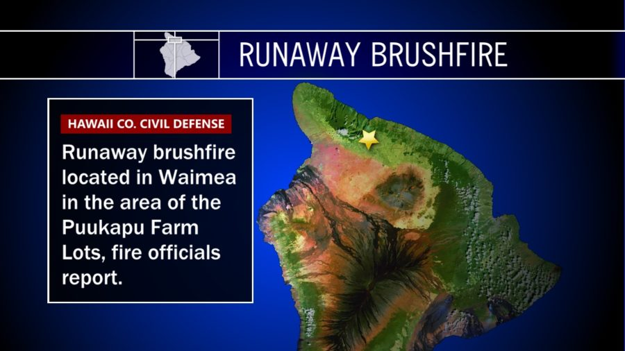 Runaway Brushfire In Waimea's Puukapu Farm Lots