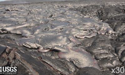 VIDEO: Lava Creeps Along Coastal Plain In USGS Timelapse