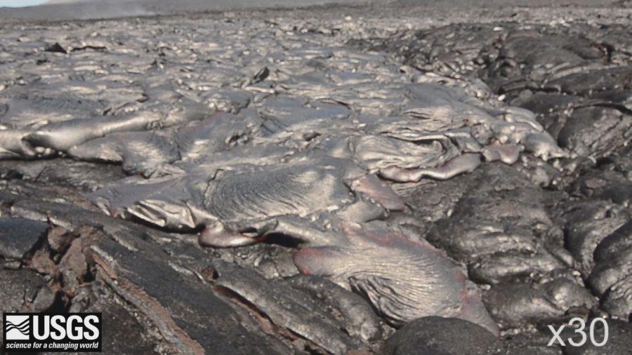 VIDEO: Lava Creeps Along Coastal Plain In USGS Timelapse