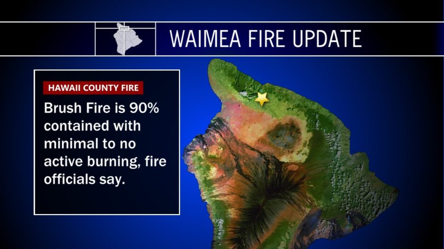 Waimea Brushfire Update – Saturday Night, July 8