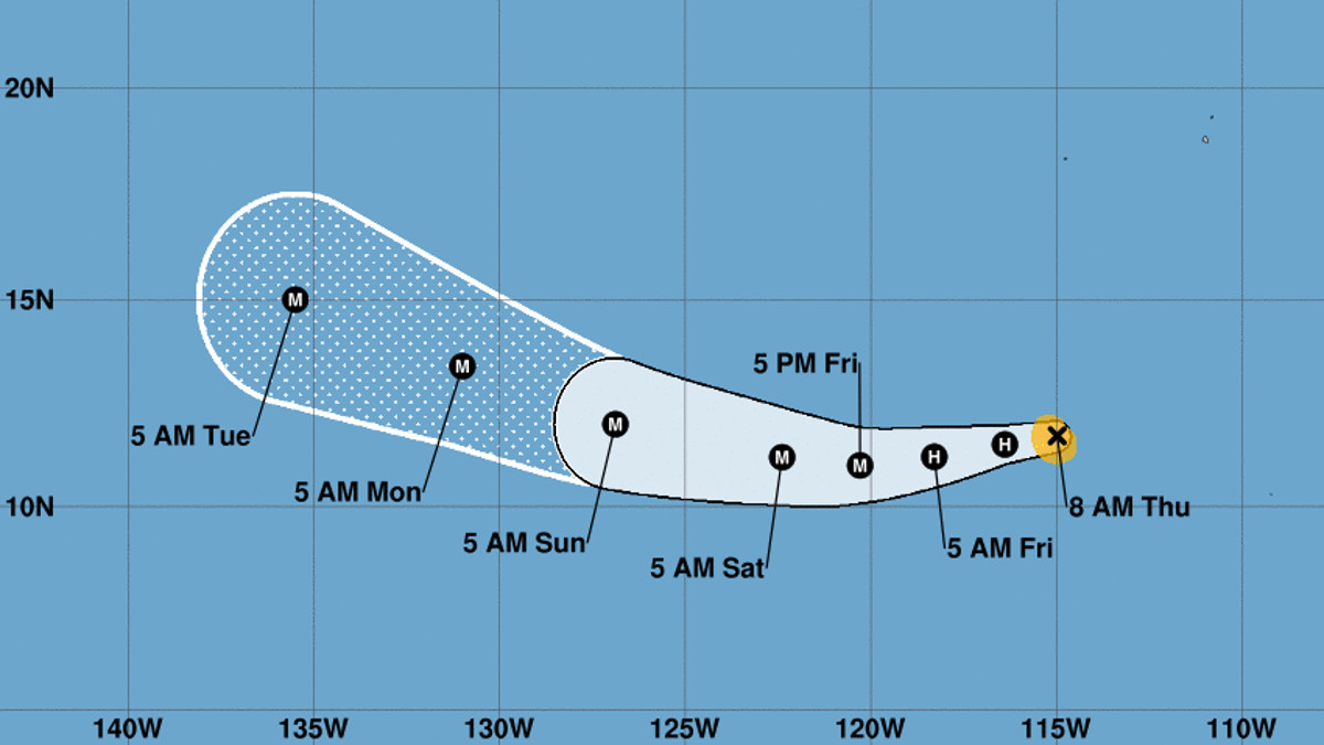 Hurricane Fernanda strengthens in Pacific, no threat to land
