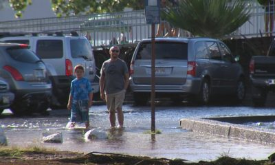 VIDEO: High Tides Flood Moku Ola Parking Lot