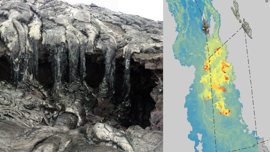 Scientists Map Flow Field, Find Lava Tube