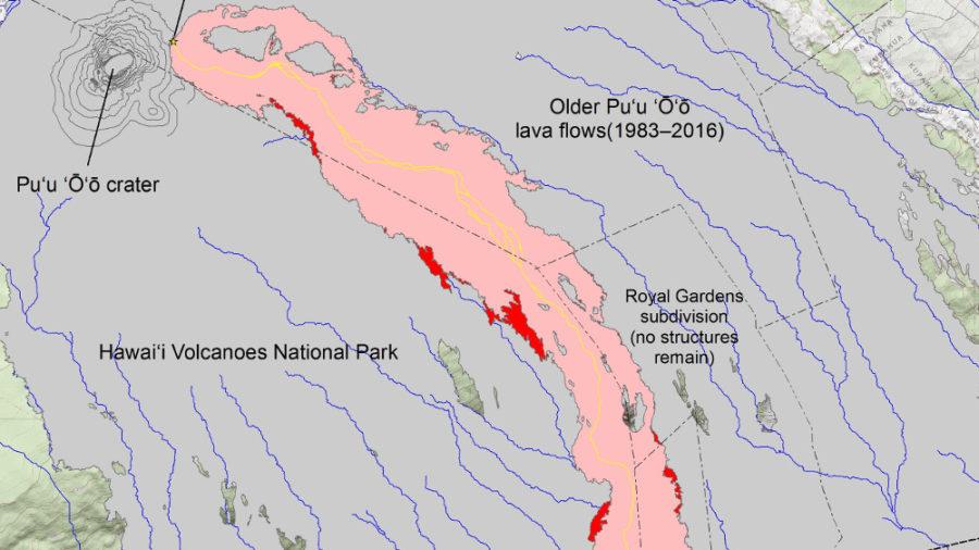 New USGS Map Locates Lava Breakouts On Flow Field