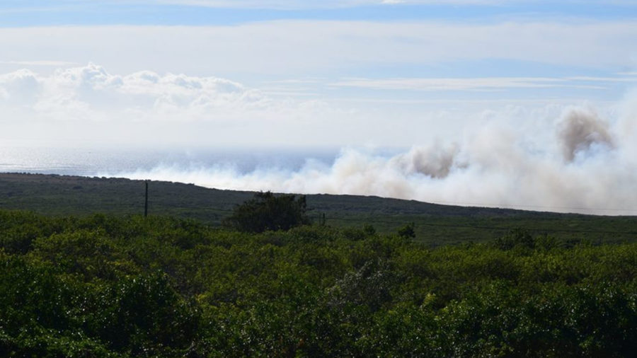 Brushfire Burning Near South Point