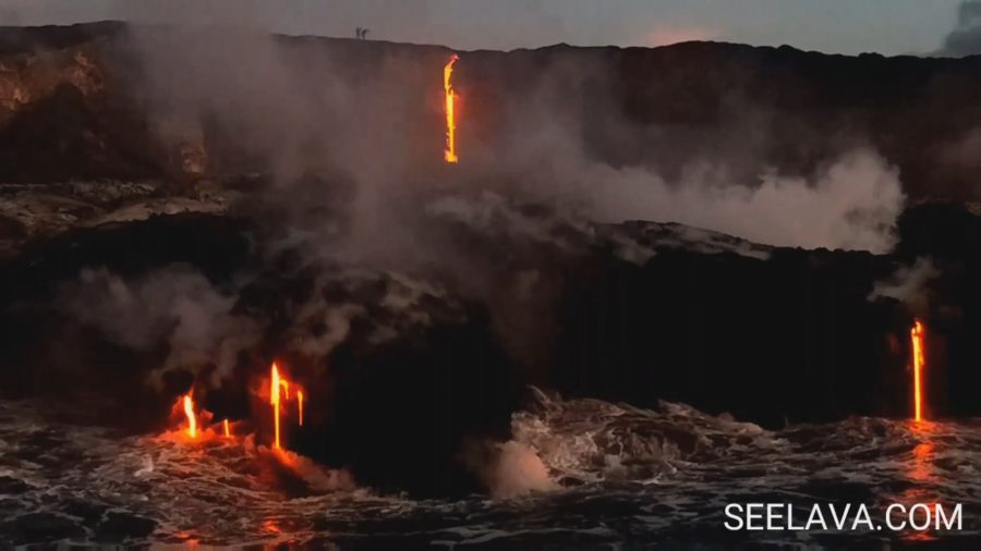 New Lava Breakout At Ocean Entry