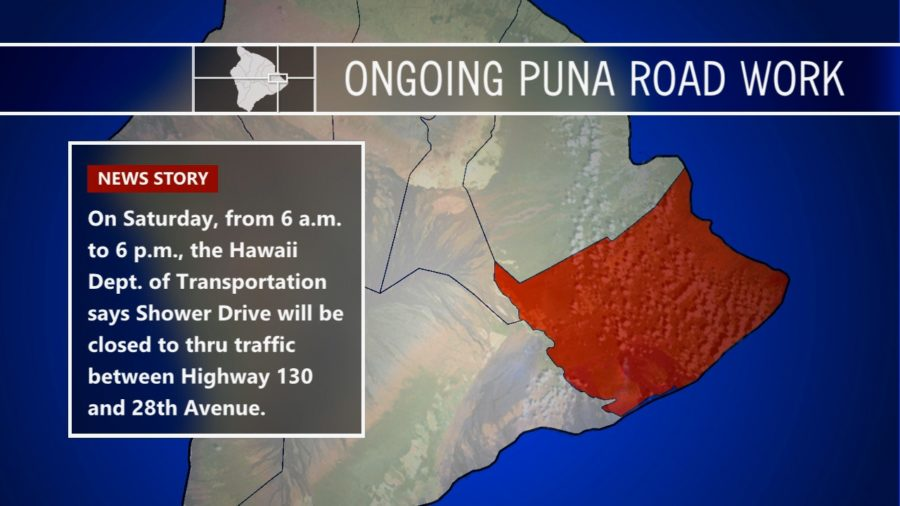 Keaau-Pahoa Road Shoulder Lane Conversion Work Slated
