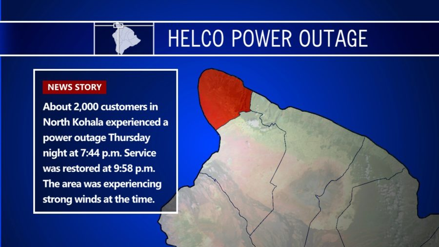 North Kohala Lost Power During High Winds