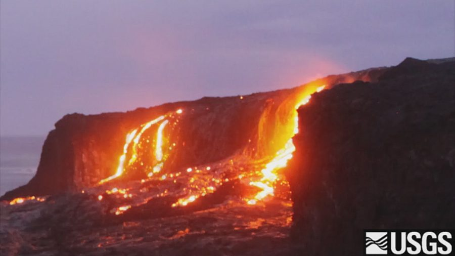 VIDEO: Lava Breakouts Light Up The Night On Hawaii Island