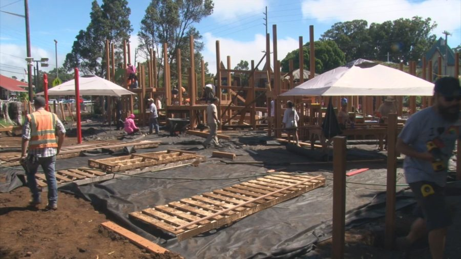 VIDEO: Anuenue Playground Build Underway In Waimea