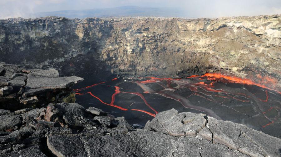 Lava Update: Rockfalls At Pu'u O'o, Ocean Entry Thermal Images