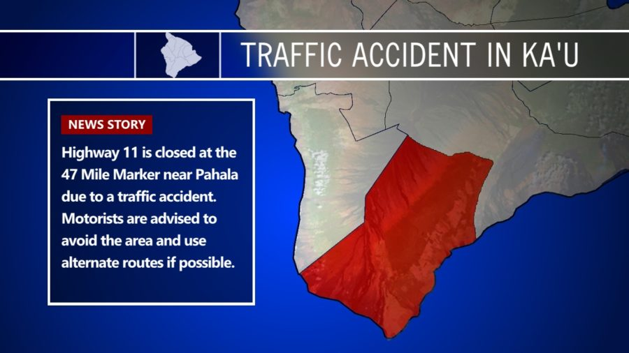 Traffic Accident Closes Highway 11 Near Pahala