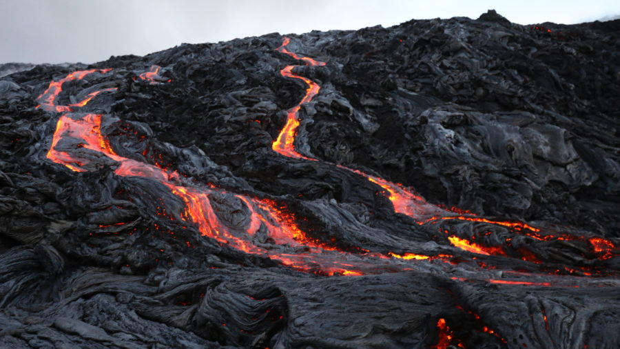 VIDEO: Big Lava Breakout On The Pali