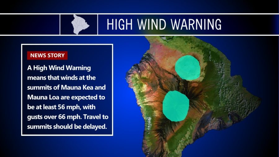 High Wind Warning Shuts Down Hawaii Summits