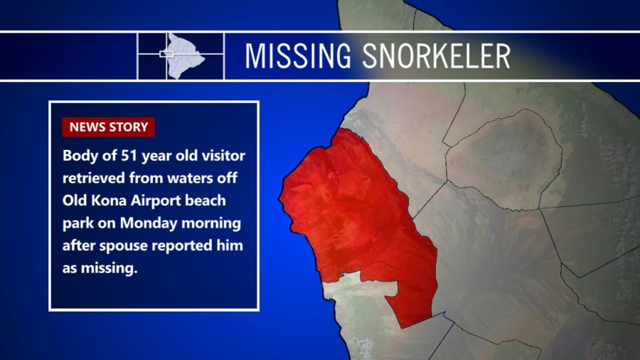 Body Of Missing Snorkeler Found Off Old Kona Airport