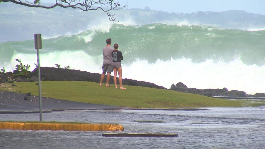 VIDEO: Huge Surf Closes Keaukaha Beaches, Hilo Roads