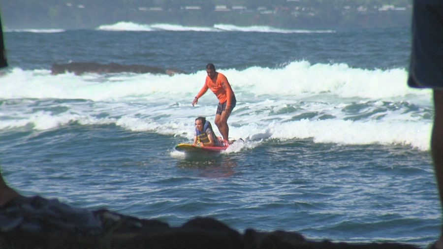 VIDEO: Surfers Healing Catches Waves In Hilo