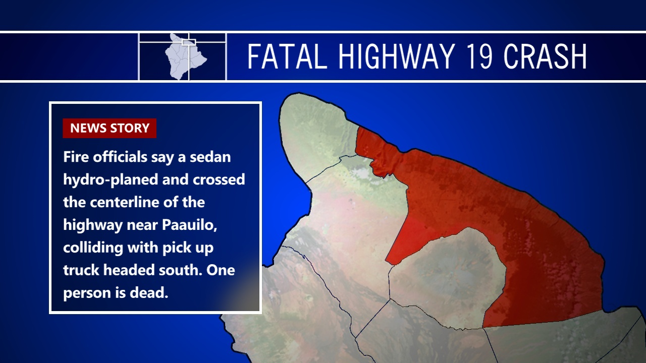 Deadly Crash On Highway 19 Near Paauilo