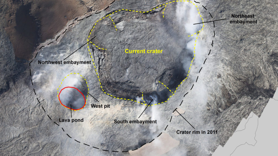 USGS Posts New Annotated Map Of Pu'u O'o Crater