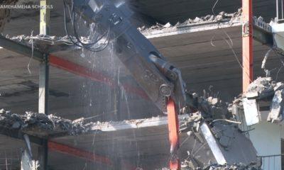 VIDEO: Demolition Of Old Keauhou Beach Hotel Exterior Begins