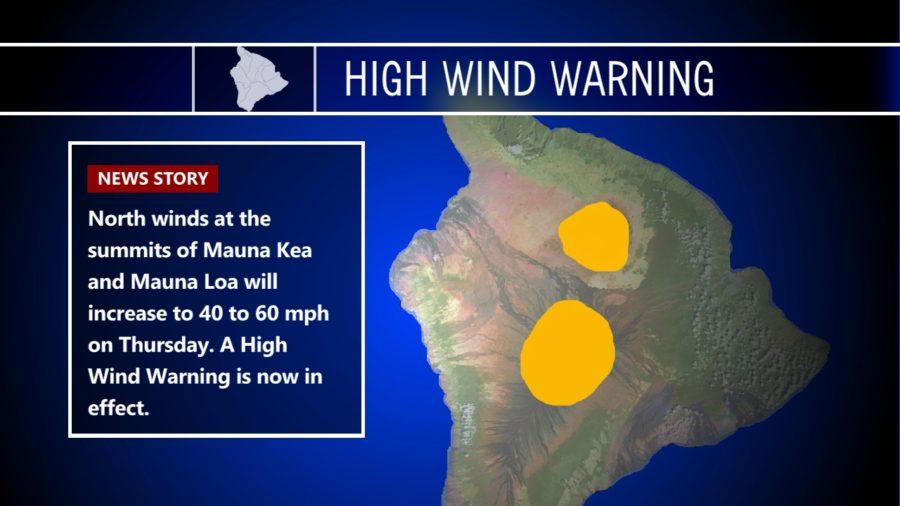 High Wind Warning For Hawaii Summits