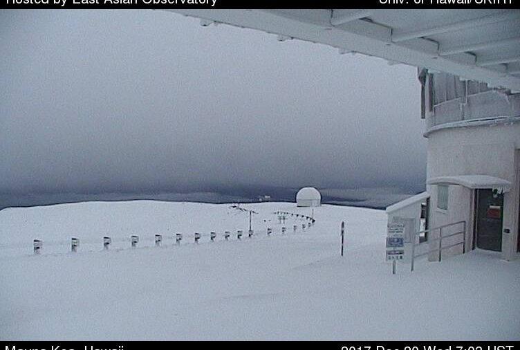 Deep Snow Covers Mauna Kea Summit At Wednesday Sunrise