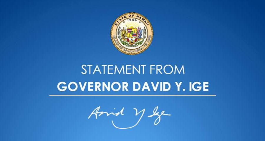 VIDEO: Governor David Ige's Address To Hawaii