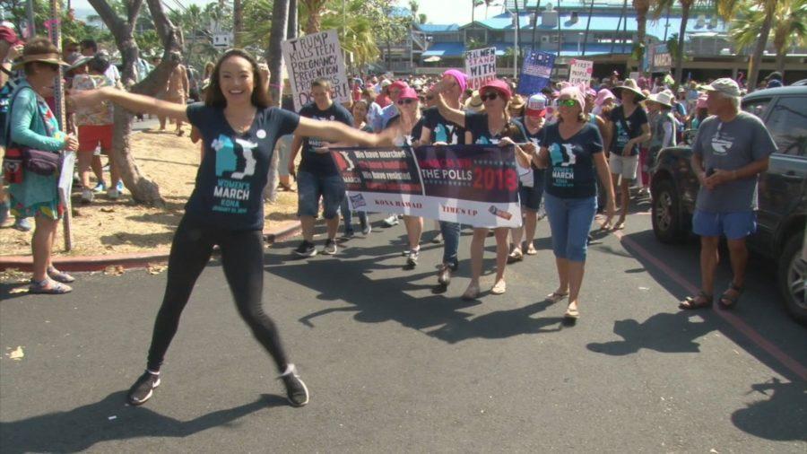 VIDEO: 2018 Kona Women's March Hits Kailua Village