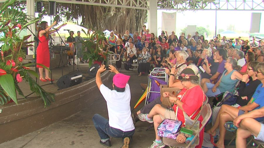 VIDEO: Hilo Women's March Marks One Year Of Resistance