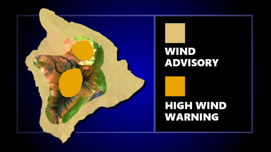 Windy Conditions Prompt Alerts Across Hawaii Island