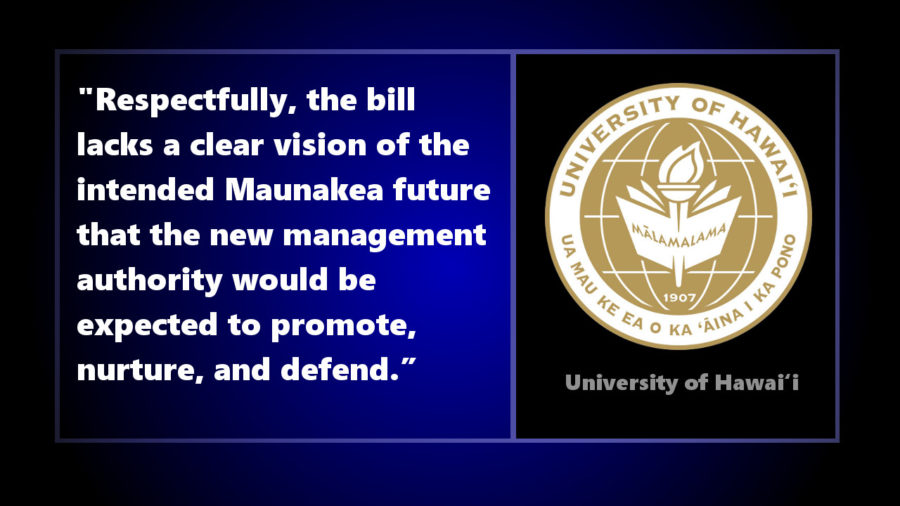 University Of Hawaii Testifies To Keep Mauna Kea Management