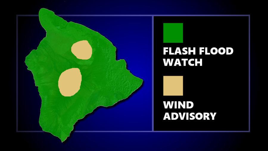 Hawaii Island Under Flash Flood Watch