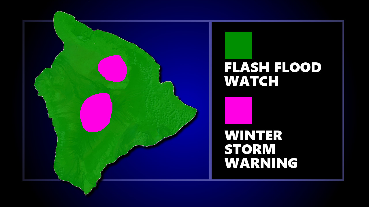 Winter Storm Warning: Heavy Snow Occurring On Hawaii Summits, Winter Storm Warning