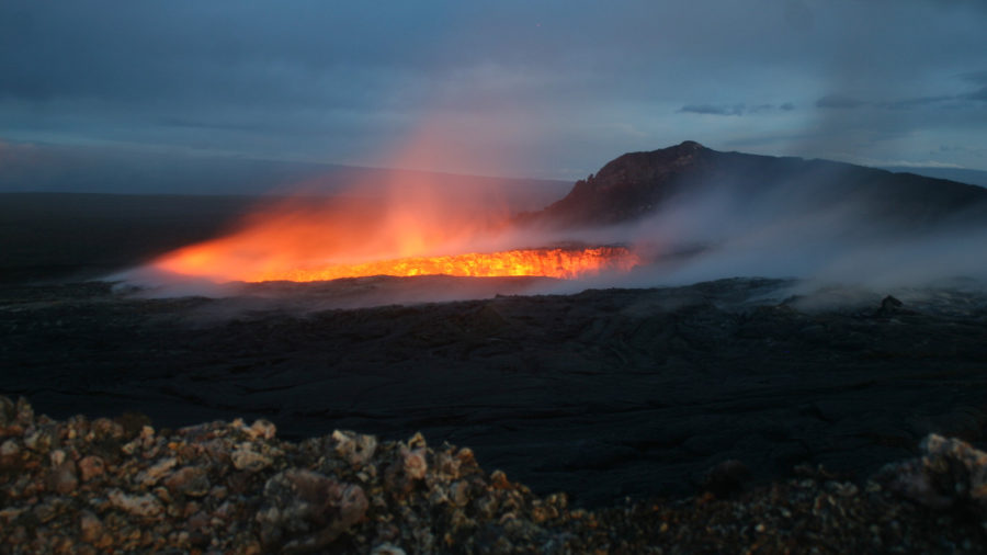 USGS Reports Volcano Wall Collapse, Maps Lava Breakouts