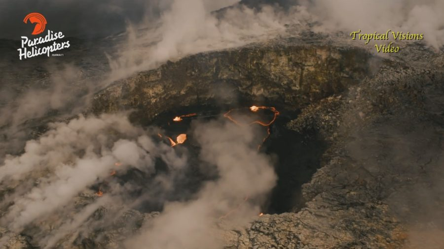 VIDEO: Volcano Wall Collapse Recorded From Helicopter