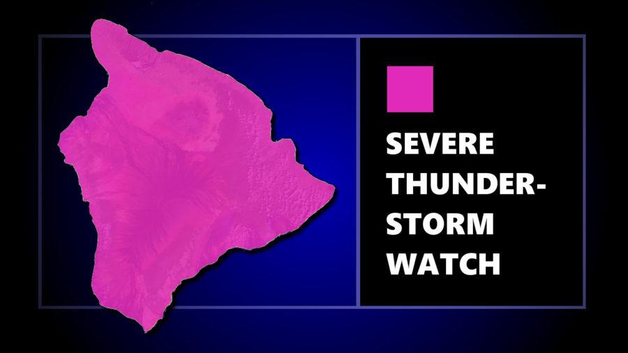 Big Island Under Severe Thunderstorm Watch