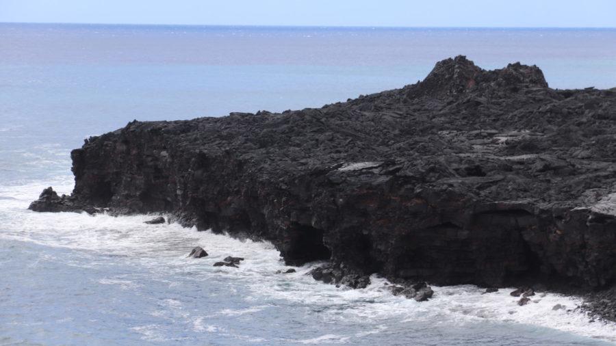 Volcano Earthquake Swarm Subsides, Lava Delta Eroding