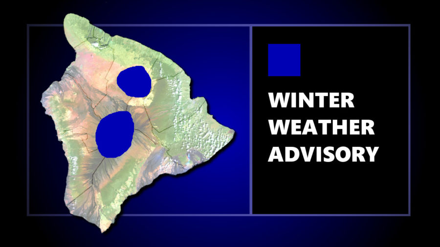 Winter Weather Advisory For Mauna Kea, Mauna Loa