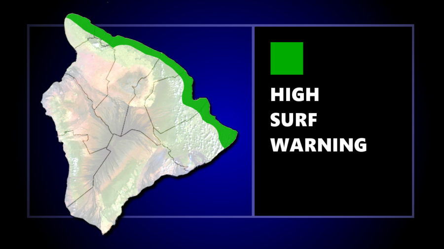 High Surf Warning Issued For Wednesday, March 21