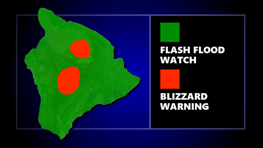 Blizzard Warning For Hawaii Summits