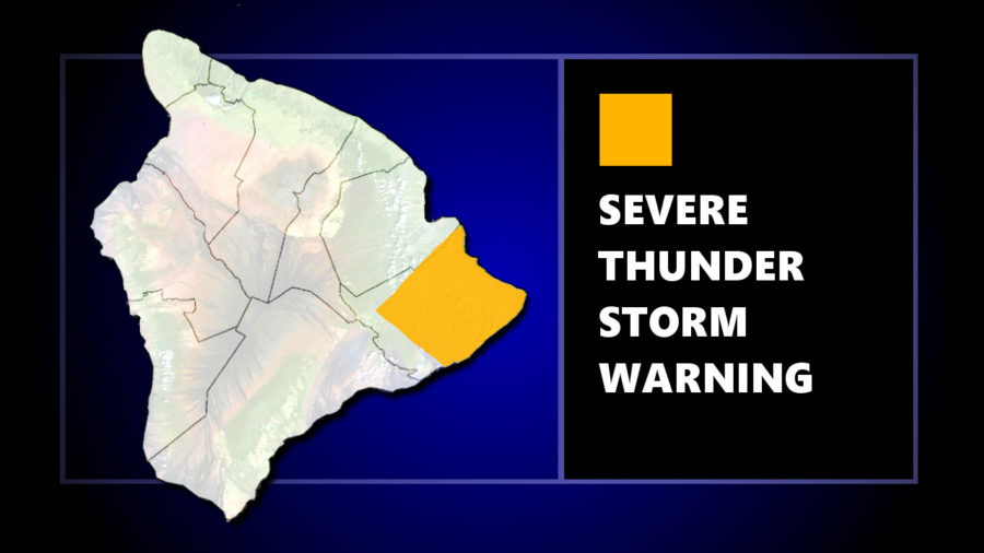 Severe Thunderstorm Warning For Hawaii Island