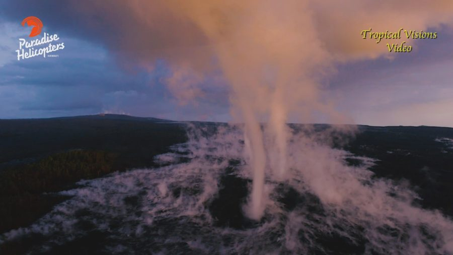 VIDEO: Vortices Spout Over Hawaii Volcano Lava Flow Field