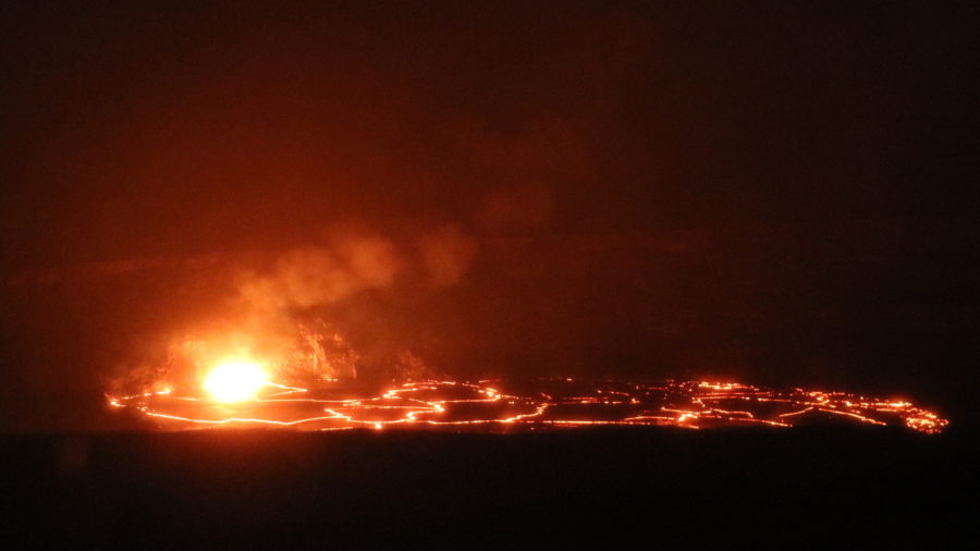 Lava Lake Overflows Continue At Kilauea Summit