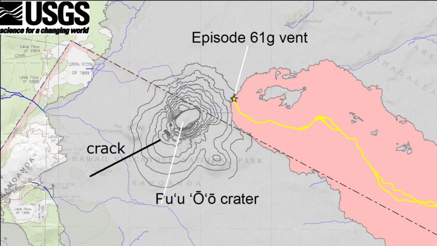 USGS: Volcanic Activity Cracked Earth West Of Pu'u O'o