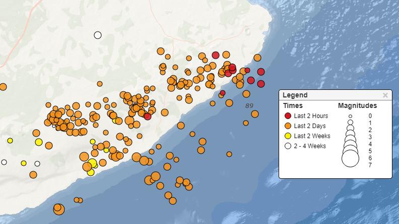 10 AM Puna Lava Intrusion Update: Quakes Continue, School Closed