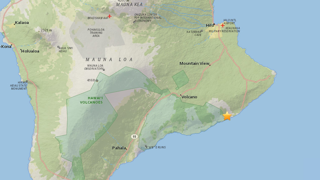 Large Earthquake Hits Hawaii Highway 130 Closed