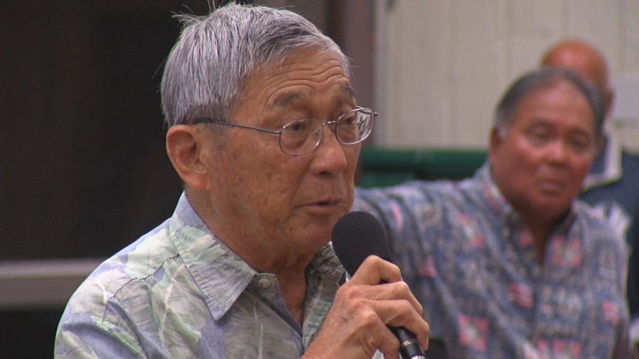 VIDEO: Eruption Meeting – Kahu Kaawaloa, Mayor Kim, and David Ige