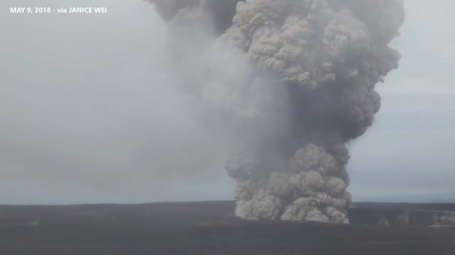 VIDEO: First Civil Defense Message On Possible Kilauea Summit Explosion