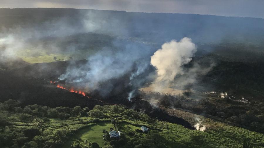 7 am Eruption Update – New Fissure, More Cracks Near Highway 130