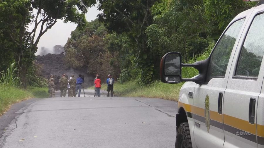 VIDEO: Officials Assess Lava-Severed Highway 137
